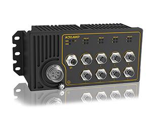 Aquam9S - Неуправляемый коммутатор IP65 с PoE: 1Gb + 8 x 100M портов, EN50155